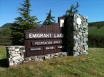 Emigrant sign