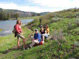 Kristi Lloyd, Kim Bean, Kc York, and myself at Trout Lake, Yellowstone National Park in June of 2013.