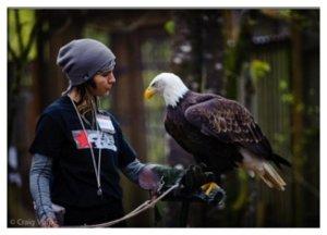 Hannah with eagle